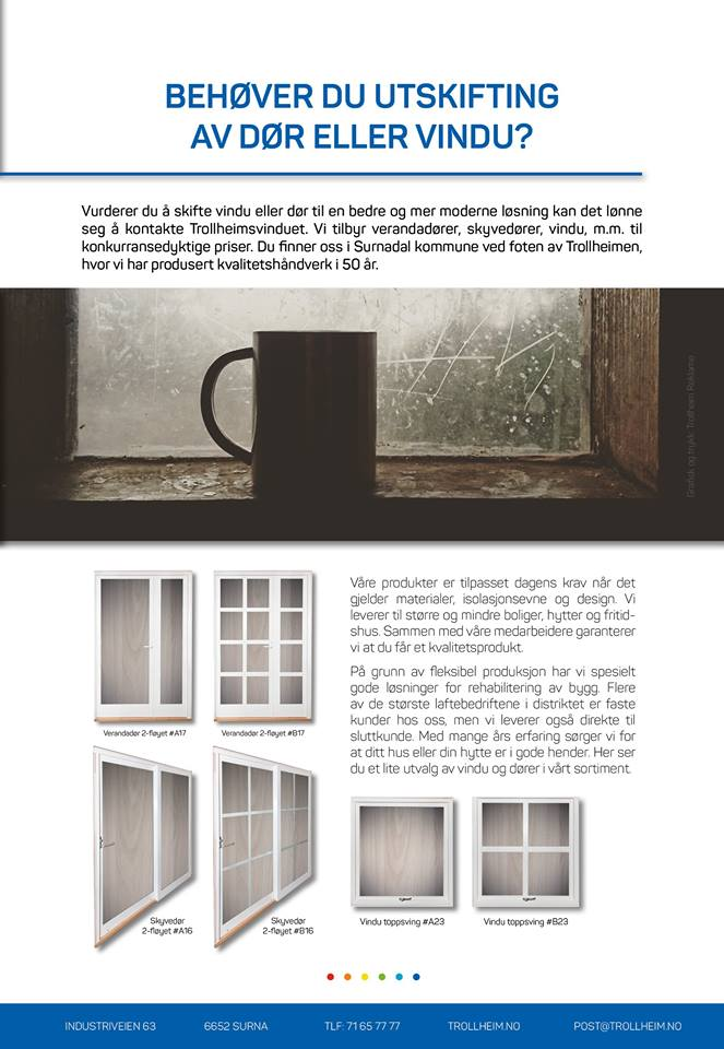 brosjyre: skrifte vinduer