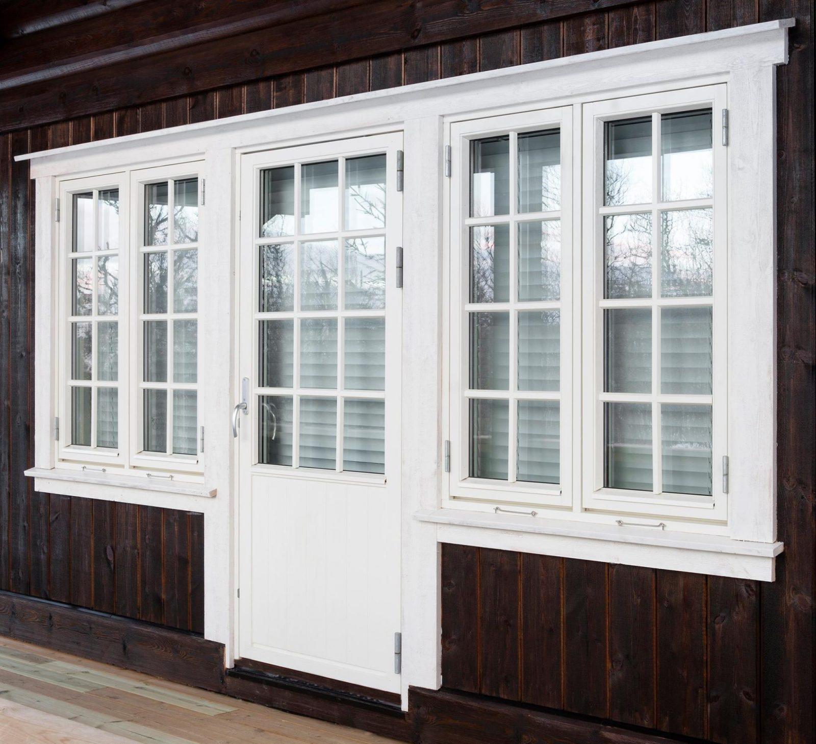 vindu og verandadør