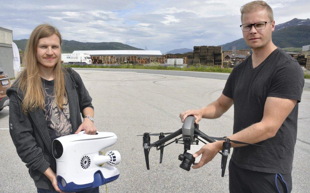 Eirik og Richard med droner